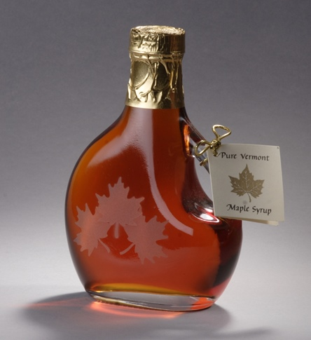 Sweet Retreat Sugarworks 3 maple leaf etched bottle