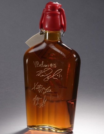 Sweet Retreat Sugarworks etched bottle with signatures