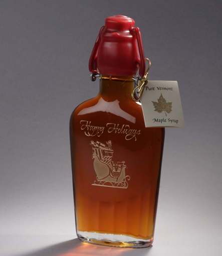 Sweet Retreat etched holiday flask