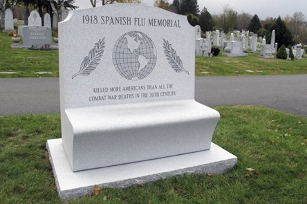 Spanish Flu Bench at Hope Cemetery, Barre VT
